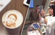 Kahveye fotoğraf basabilen makine