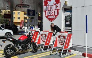 'Motorcu dostu' istasyon!