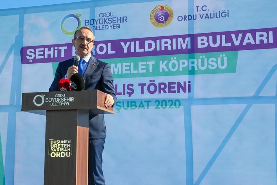 Vali Yavuz, Yeni Melet Köprüsü ve Şehit Birol Yıldırım Bulvarı'nın Açılış Törenine Katıldı