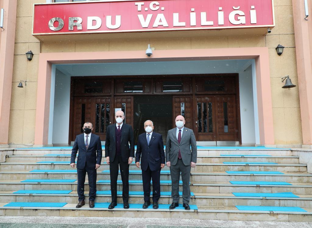 AK Parti Genel Başkan Vekili Prof. Dr. Kurtulmuş, Vali Sonel'i Ziyaret Etti