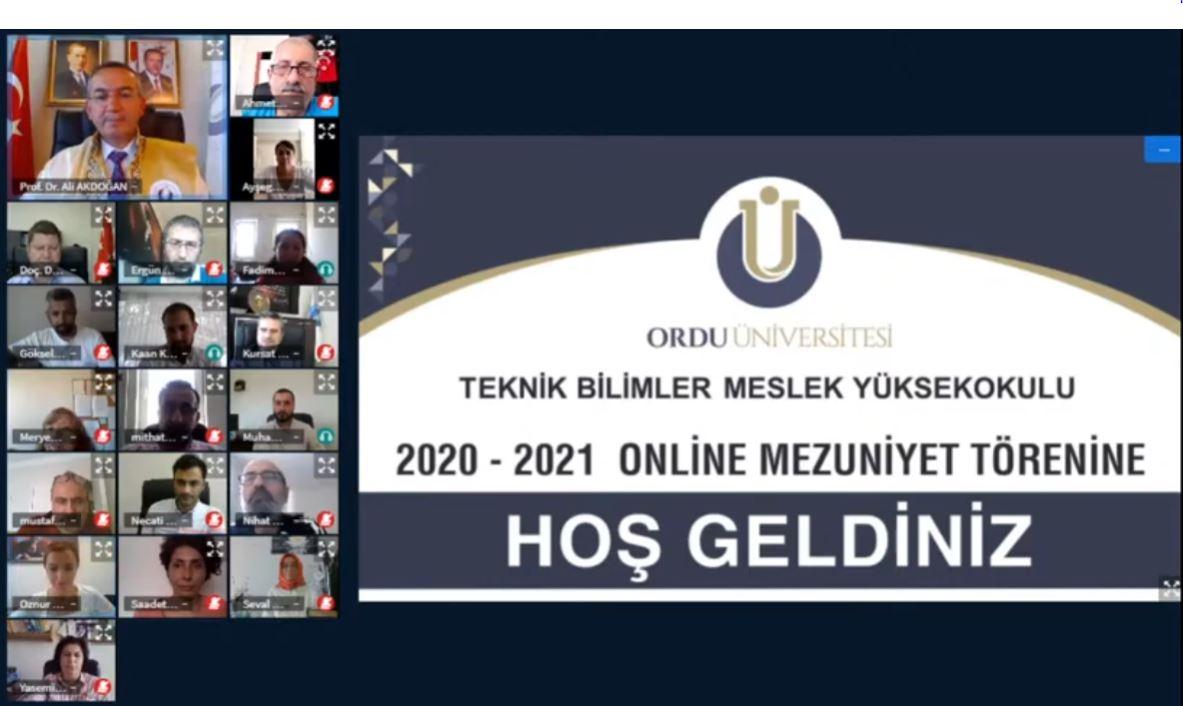 Üniversitemiz Online Mezuniyet Törenleri Gerçekleştirildi