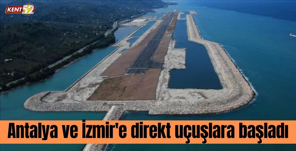 Ordu-Giresun Havalimanı, Antalya-İzmir Uçuşları